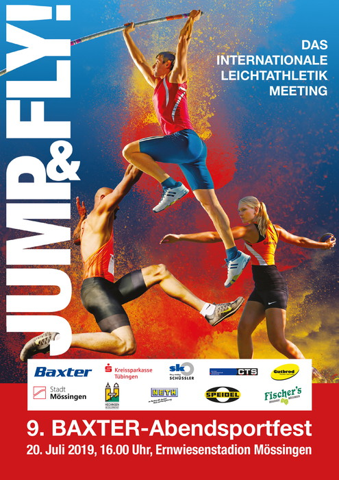 JUMPFLY A5 Flyer red