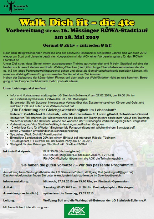 Walk dich fit Flyer 2019 700Bild